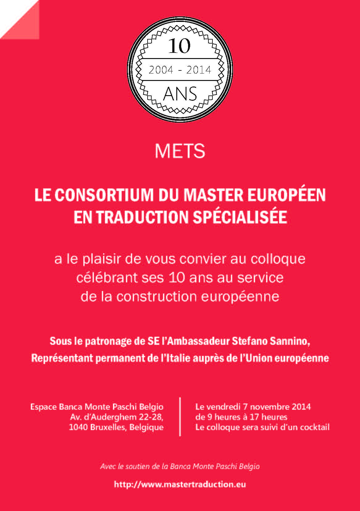 Invitation METS rougeDEF